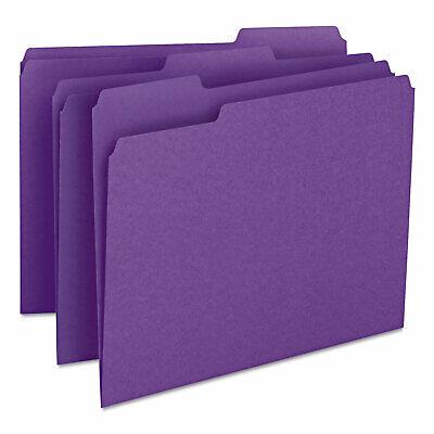 Smead File Folders 13 Cut Top Tab Letter Purple 100box 13043