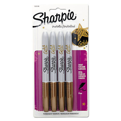 Sharpie Metallic Permanent Markers Gold 4pack 1829198