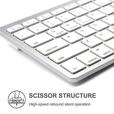 Wireless Bluetooth V3.0 Slim Keyboard for PC iOS iPads Android Macs NEW Computers/Tablets & Networking