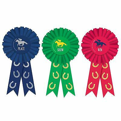 Derby Day Horse Race Kentucky Sports Racing Theme Party Favor Award Ribbons (Horse Themed Parties)