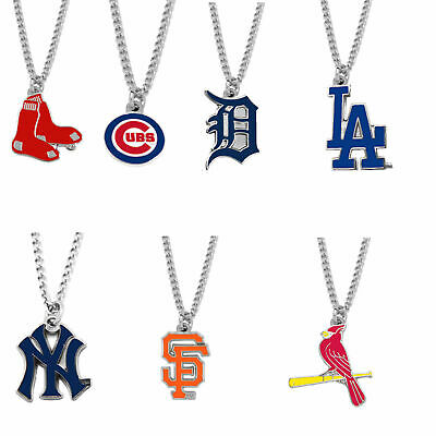 - MLB logo necklace charm pendant PICK YOUR TEAM