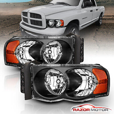 Replacement Headlights for 2002-2005 Dodge Ram 1500 2500 3500 Left +Right