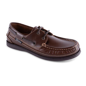 Mens Leather Nubuck Slip On Lace Up Deck B
