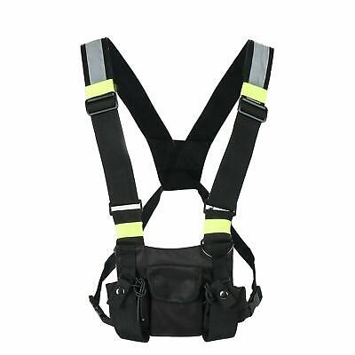 Radio Vest Chest Rig Harness Bag Holster For Two Way Radio Rescue Essentials