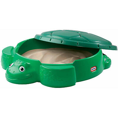 Little Tikes Turtle Sandbox With Cover Seats Outdoor Backyard Play Set *NEW*