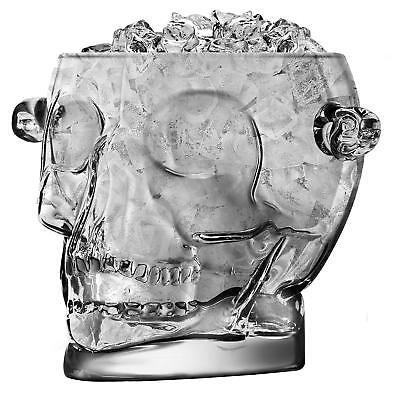 Brainfreeze Retro ICE BUCKET Skull Glass Wine Beer Cooler Vintage Drinking Gift