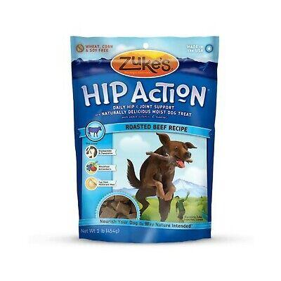 Zuke's Hip Action Natural Dog Treats Roasted Beef Recipe, 16