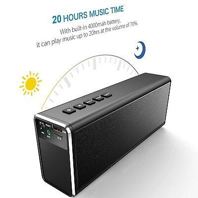 HiFi 20W 4000mAh Portable Wireless Bluetooth Speaker BASS Big Power Bank TF Mic