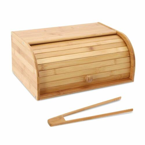 Bamboo Bread Box Countertop Bread Storage Bread Box Kitchen Food Storage Box