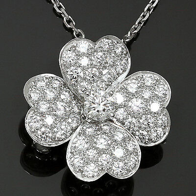 VAN CLEEF & ARPELS Cosmos Medium Clip Pendant Necklace