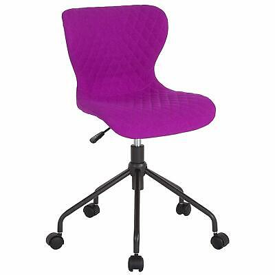 Flash Furniture Somerset Home And Office Upholstered Task Chair In Purple Fabric