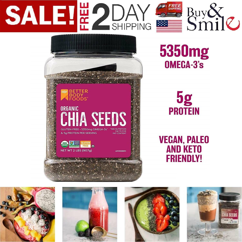 2 lb organic black chia seeds 100
