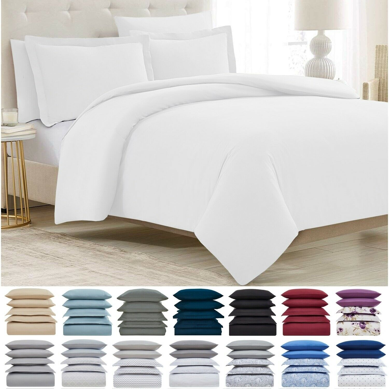 Mellanni Duvet Cover Set 5-Piece 1800 Hotel Collection w/ Bu