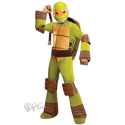 NWT TMNT Teenage Mutant Ninja Turtle Deluxe MICHELANGELO Muscle Boy Costume L