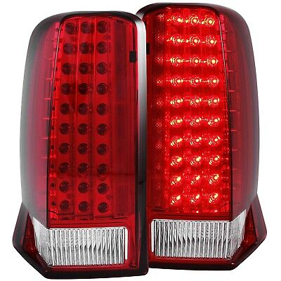 ANZO LED TAIL LIGHTS RED / CLEAR (w/o CAP) FOR 02-06 CADILLAC ESCALADE & ESV - Led Lights For Hats