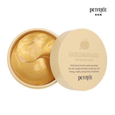 PETITFEE Gold & Snail Hydrogel Eye Patch (60ea) [USA SELLER]