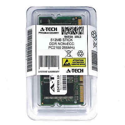A-Tech 512MB PC2100 Laptop SODIMM DDR 266MHz 200-Pin DDR1 Notebook Memory RAM (512mb Ddr266 Pc)