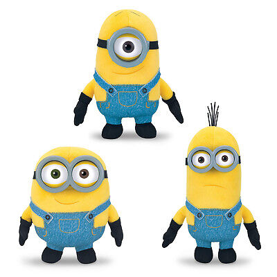 Minion Kevin Spielzeug (Original Minions - 14 - 17 cm Bob, Stuart und Kevin Plüsch Figur Stofftier NEU)