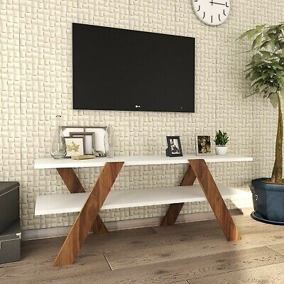 Ups Stand For (TV Stand For Flat Screen Up to 42 inch/White Contemporary design TV)