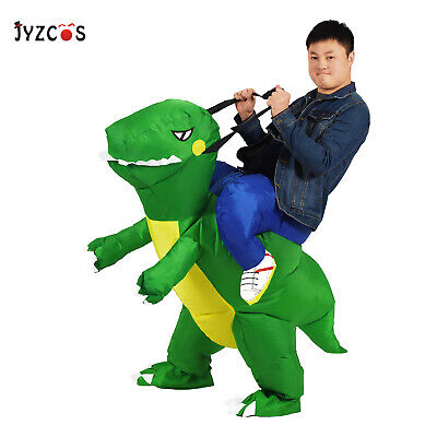 Inflatable Dinosaur Costume Adult Dress Up Ride Dino T-Rex Blow Up Suit Cosplay for sale  USA