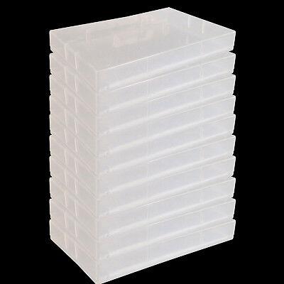x 10 Empty Case Bulk Pack Blank Empty Cassette Tape Case Soft Plastic Korean