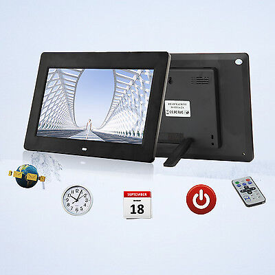 "10"" HD Digital Photo Frame LED Backlight Picture Video Player Remote Control BK"