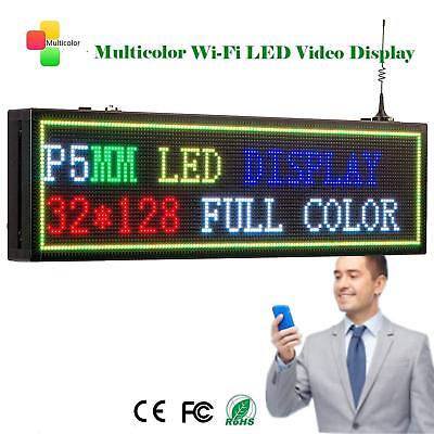Leadleds Wifi Program Led Sign P5mm 32128dots 7 Color Display Message Board