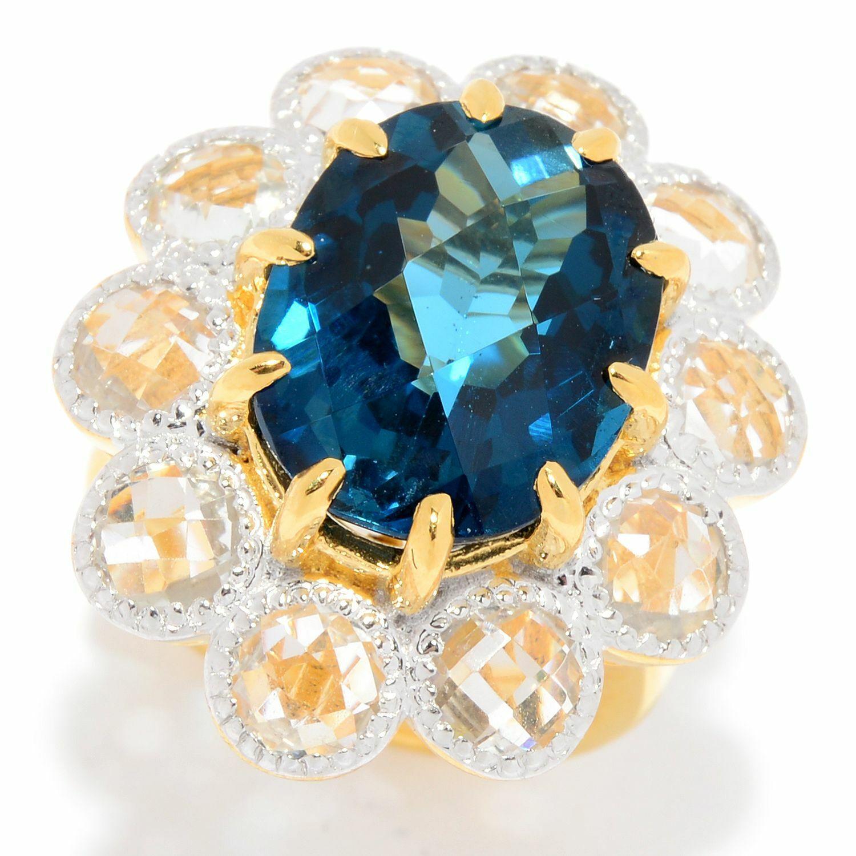 Eye of Hilarion Ring 7-207 blue white silver