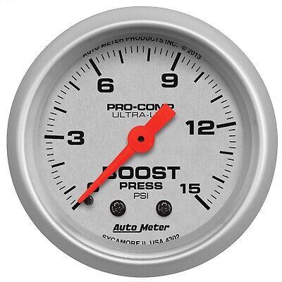 AutoMeter 4302 Ultra-Lite Mechanical Boost Gauge