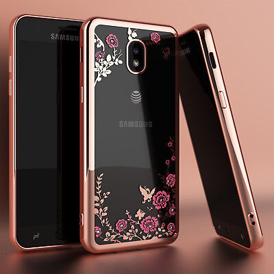 For Samsung Galaxy J3 2018 /J3 Achieve Luxury Crystal Bling TPU Clear Case Cover