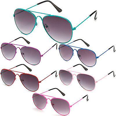 Kids Sunglasses Aviator Style Fashion Cute Girls Boys Sunnies Lead Free UV 100% - Kids Aviators