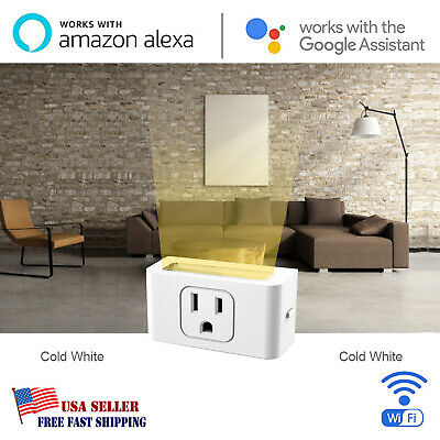 Power Socket Outlet - Wifi Smart Plug Outlet Power Socket LED Light Alexa Google Home Remote Control