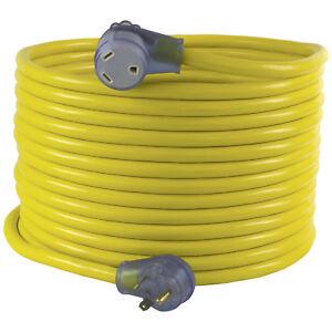 Conntek 14368-50 NEMA TT-30 30 Amp Generator / RV Extension Cord, 50ft. Yellow
