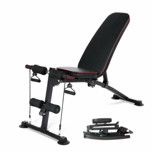 Adjustable Dumbbell Weight Bench Fitness Incline Decline Fol