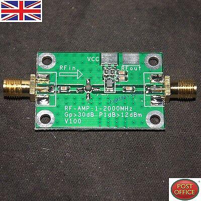 NEW 1-2000MHz 2Ghz Low Noise LNA RF Broadband Amplifier Module 30dB HF...
