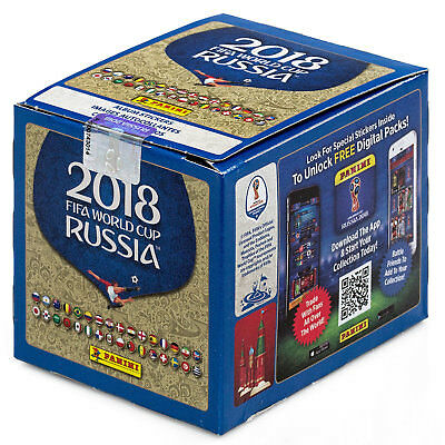 Panini Fifa World Cup Russia 2018 Box 50 Packs  5 Stickers Ea    Factory Sealed