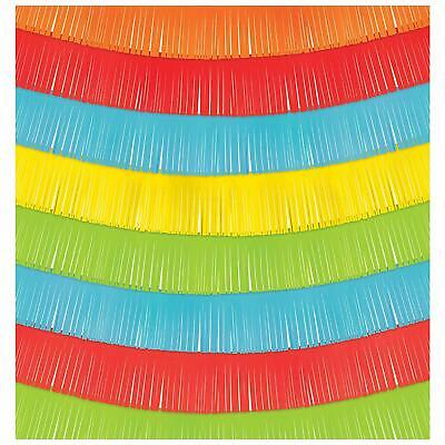 FIESTA TIME FRINGE BACKDROP PARTY DECORATIONS Rainbow Room Photo Scene Setter