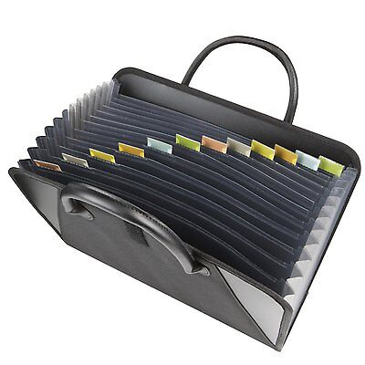 Expanding File Briefcase Handles Letter Document Folder Storage Organizer Office