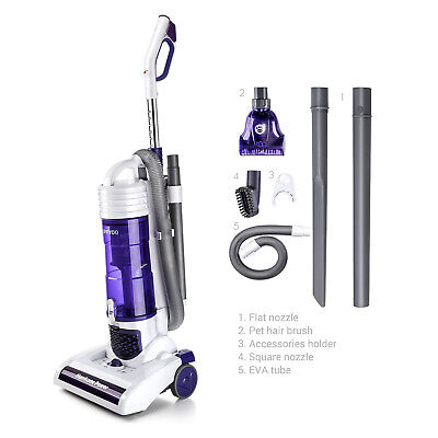 PUPPYOO S7 Bagless Upright Vacuum Cleaner Cyclonic Lightweight Carpet 1400W 2.9L Cyclone Upright Vacuum Cleaner
