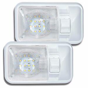 2 Pack 12V Led RV Ceiling Dome Light RV Interior Lighting for Trailer Camper