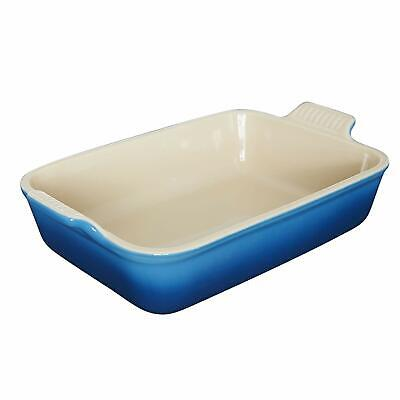 Le Creuset Heritage Stoneware 12-by-9-Inch Rectangular Dish, Marseille - Marseille Rectangular Dish