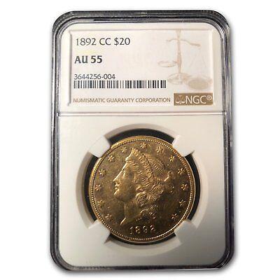 1892-CC $20 Liberty Gold Double Eagle AU-55 NGC - SKU#155456