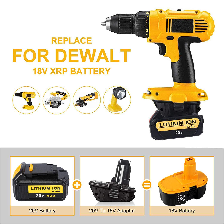 Für Dewalt DCA1820 20V MAX auf 18V Akku Adapter Konverter Für Dewalt Li-Ion AKKU