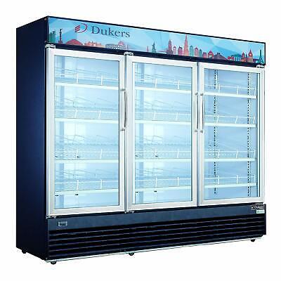 Dukers Dsm-69r 3 Glass Swing Door Refrigerator Cooler Merchandiser