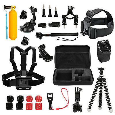 GoPro Best Accessories Kit Bundle Gopro Hero 6 5 4 3 2 1 Session Mount Combo Set