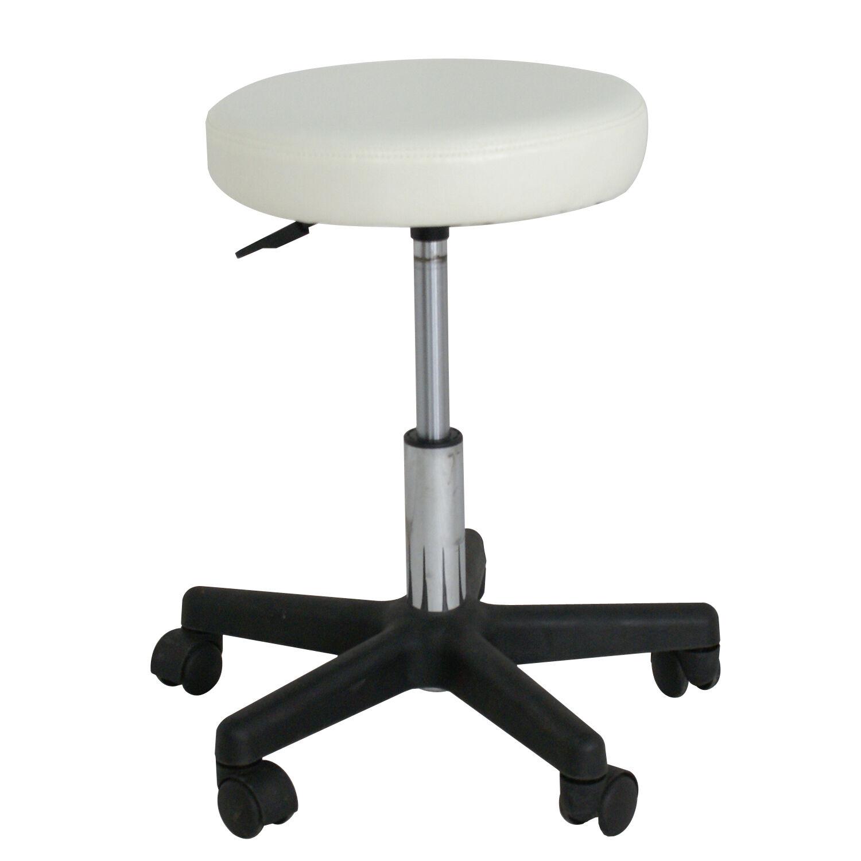 Adjustable White Swivel Hydraulic Salon Stool Rolling Chair Facial Massage Health & Beauty