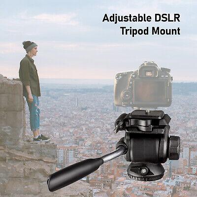 Camera video tripod pan and tilt head, 360 degree swivel Adjustable DSLR Camera