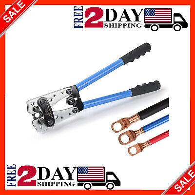 Battery Terminal Crimper Wire Stripper Lug Crimp Tool Cable Electric Plier Multi