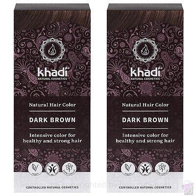 Khadi Herbal Hair Colour Dark Brown Pure Natural Botanical Dye PACK OF 2