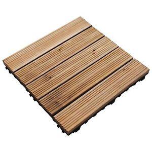 30cm sq wooden decking tiles deck easy click slabs garden for Garden decking kits on ebay